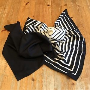 🦓 VINTAGE 80's square scarf duo